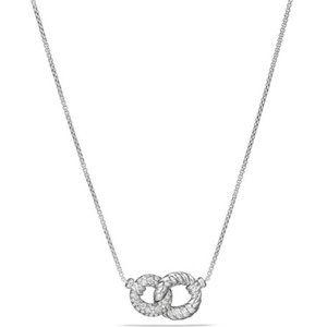 David Yurman 'Belmont' 18K-WG Double-Link Necklace